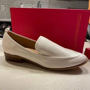 White Pointed Loafer